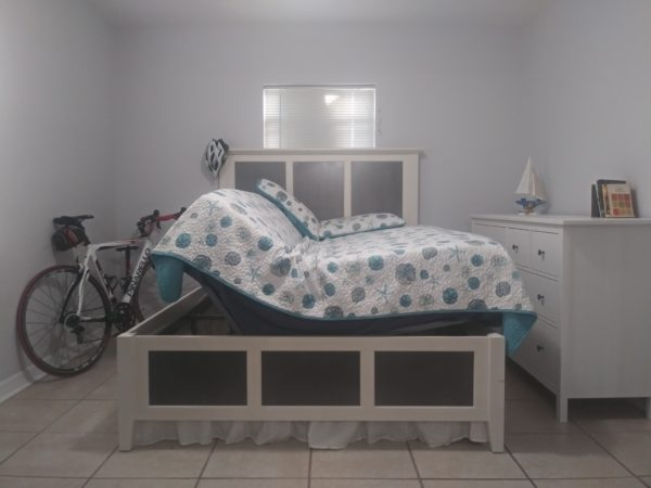 Bedroom setting inside bed frame
