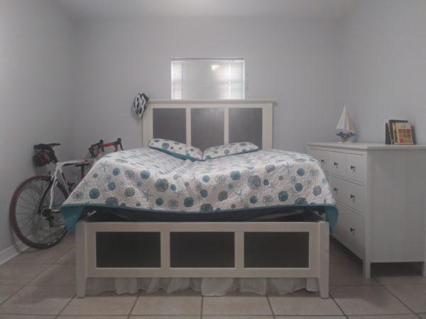 Bedroom setting inside frame