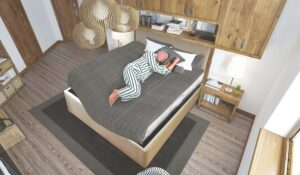 Side Sleeping Bed Adjustable Bed by KCE Bed