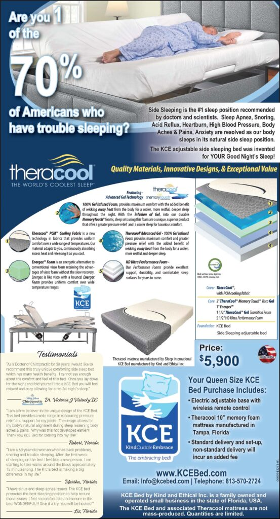 Side Sleeping Electric Adjustable Bed by KCE Bed